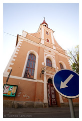 This way please (Tuomas_Lehtinen) Tags: street door city travel summer building church sign architecture digital canon eos rebel daylight europe estonia angle wide sigma 1020mm prnu xti 400d