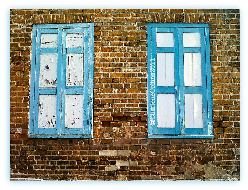 Spanish Town: Blue Shutters