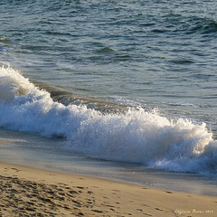 P1010619 (Alfredo Barros G  ) Tags: light sunset espaa luz water atardecer sand agua marine europa award paisaje arena galicia bubble olas pontevedra vigo onde espuma pisadas radevigo paisajemarino ondewaves florespaisajesyms lumixfz45 pticaleica