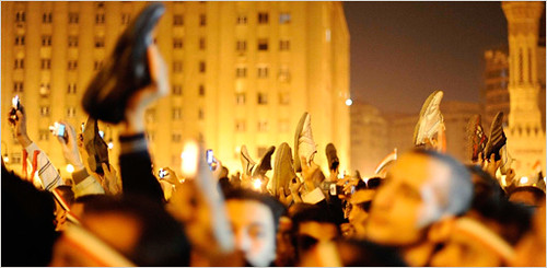 Cairo, end of Mubarak's speech via twitter.jpg