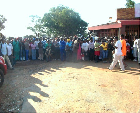 Bapsfontein report back mtg 6 Jan 2011