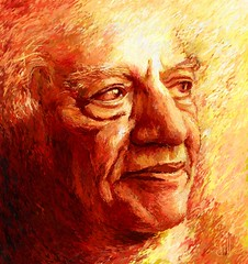 Faiz Ahmed Faiz (Shubnum Gill) Tags: poverty birthday pakistan red portrait people music woman india color colour art pen painting freedom golden eyes women asia poem drawing delhi poor protest egypt canvas communist communism cairo exploitation painter poet oil socialist writer worker ahmad imperialism gill ahmed lahore struggle marxism newdelhi equality progressive faiz ghazal southasia centenary sialkot pwa nazm faizahmedfaiz shubnum emanicipation shubnumgill faizahmadfaiz shubnamgill leninaward