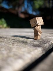 02.10.2011 (greenplasticamy) Tags: japan project toy lumix japanese robot amazon day box mini daily panasonic sidewalk every cardboard micro photoaday 20mm 365 everyday figurine 43 danbo f17 amazoncojp gf1 mft project365 365days revoltech danboard micro43 minidanboard minidanbo dmcgf1