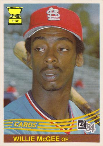 Baseball Card Bust Willie Mcgee 1984 Donruss