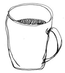 #34 ~ coffee (dthaase1) Tags: art coffee poetry haiku penandink oneline dthaase