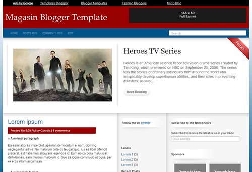 Magasin Blogger Template