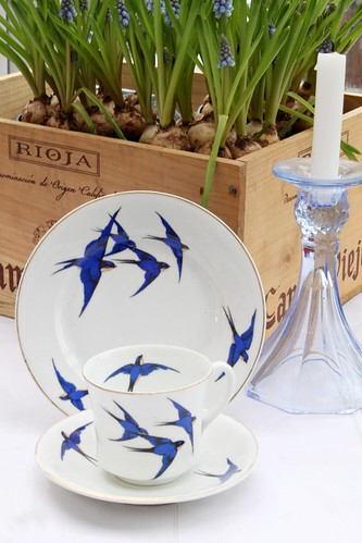 Vintage China & Grape Hyacinth