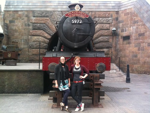 The Burrow at the Hogwarts Express