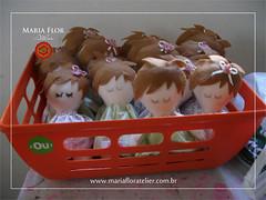 Elas esto por toda parte... (mariafloratelier2) Tags: baby doll bonecas babies rosa felt corao beb feltro jardineira minirosa portamaternidade jardimdasbonecas