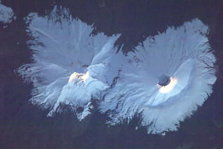 Which two volcanoes in the Andes?