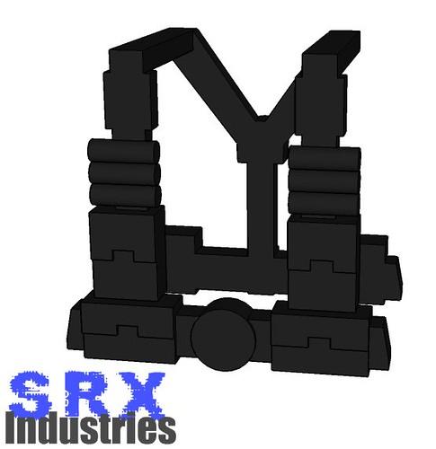 Custom minifig Duke Nukem Ammo Straps