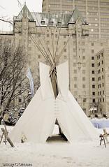 Native Dwelling  - Ottawa 02 11 (Mikey G Ottawa) Tags: city winter snow ontario canada ice home festival ottawa teepee confederationpark wigwam winterlude tepee dwelling mikeygottawa