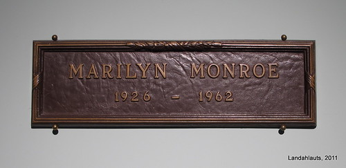 Placa Tumba Marilyn Monroe