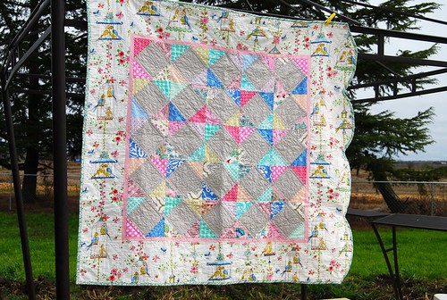lovebirds baby quilt