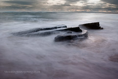 Dornoch Beach (Tannachy) Tags: uk longexposure winter sea seascape water rock landscape coast scotland highlands europe slow britain united scottish kingdom escocia shutter british sutherland isles hightide dornoch ecosse