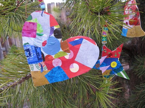 Our collage ornaments #12
