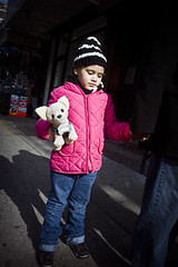 Girl With Stuffed Dog (keithbgoldstein) Tags: leica newyorkcity girl chinatown harlem broadway stuffeddog hamiltonheights leicam leicaelmarit28mmf28asph leicam9 leitz2828elmaritasph