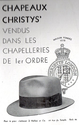 the 1930s-ad for Christy's hats