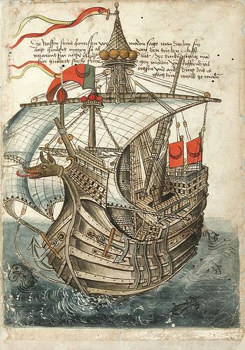 004-Nave turca-Konrad von Grünenberg- Beschreibung der Reise von Konstanz nach Jerusalem 1487- © 2010 Badische Landesbibliothek