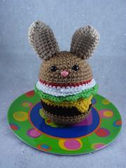 Bunneh Burger (Yummy Pancake) Tags: bunny monster burger toast crochet amigurumi yourmom