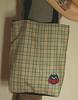 Sacola Coruja (tati schmidt) Tags: bag handmade felt owl coruja veludo feltro bolsa handbag totebag xadrez sacola fieltro azulmarinho cotelê tatischmidt