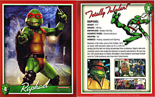 TEENAGE MUTANT NINJA TURTLES :: 25th Anniversary Collector's Edition { 4 Blu-ray Movie Disc set } .. // Character Card #4; Raphael  (( 2009 ))