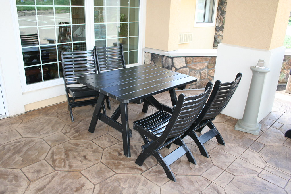 Black cypress table and chairs