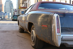 Detroit Cadillac (Flint Foto Factory) Tags: city roof winter red urban black classic sign bulb vintage hotel gm theater downtown neon theatre decay michigan burgundy district detroit vinyl rusty down cadillac eldorado historic entertainment chrome cover storefront torn 1978 february 1970s 1977 coupe renaissance fwd renewal taillights charlevoix pinstripe parkavenue elizabethst generalmotors waynecounty landau 2door agogo grandcircuspark 2011 cliffbells wheelcovers frontwheeldrive worldcars malaiseera personalluxury