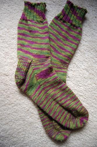 FO: Socks for Aunt Di