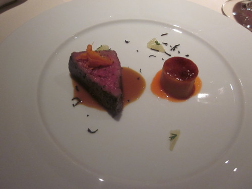 Baume - Palo Alto - February 2011 - Grass Fed Beef, Bergamot Saveur with Carrot Flan