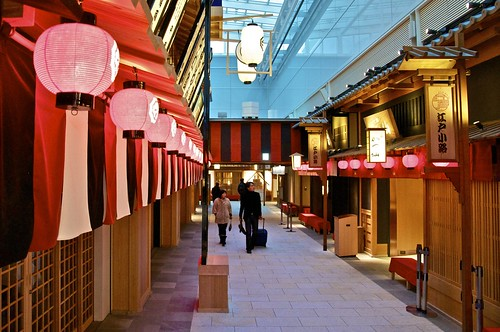 Edo Town in new Haneda International Terminal