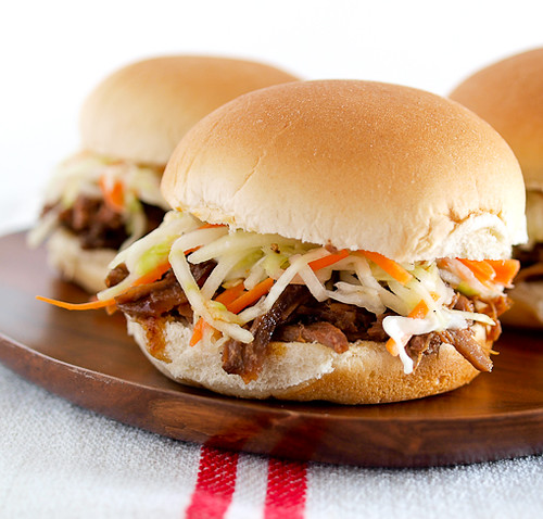 Shredded Beef Sliders with Apple Carrot Slaw