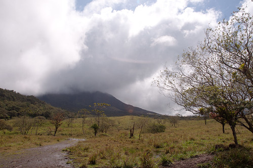 Nearly the most we ever saw of volcano Arenal in Costa Rica