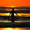 Silhouette surf girl at sunset (!.Keesssss.!) Tags: sunset sea sky people orange reflection beach nature netherlands silhouette walking square outdoors photography wave surfing surfboard females vacations zandvoort onthemove oneperson gettyimages royaltyfree colorimage leisureactivity threequarterlength horizonoverwater theflickrcollection keessmans 204ksgetty