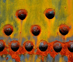 Rivets (davidwilliamreed) Tags: old abstract abandoned car metal rust rivets neglected rusty railway textures forgotten crusty patina