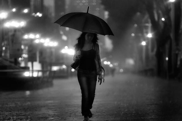 Night Rain Photograph by Danny Santos