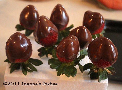 Chocolate Covered Strawberries: Chocolate Setting