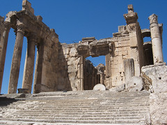 The Temple of Bacchus at Baalbek (III) (isawnyu) Tags: lebanon rome building history stone architecture temple ancient stair roman pillar masonry structure bacchus civilization column entry colonnade baalbeck baalbek conna pleiades:depicts=668231