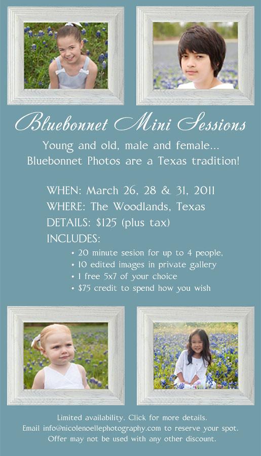 Bluebonnet mini Sessions