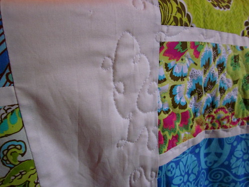 FMQ on a quilt