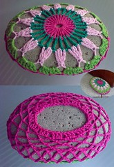 Crocheted Rock - My new door stopper!!! (LauraLRF) Tags: door art motif colors thread rock stone puerta handmade crochet pebble cotton covered hilo roca holder stopper piedra algodon ganchillo traba
