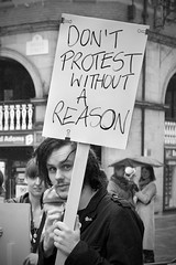 136/1000 - Don't protest without a reason (Mark Carline) Tags: street camera colour digital canon photography eos cheshire chester dslr ff 5dmarkii 5d2 5dmkii 5dmk2 5dmark2 gupr