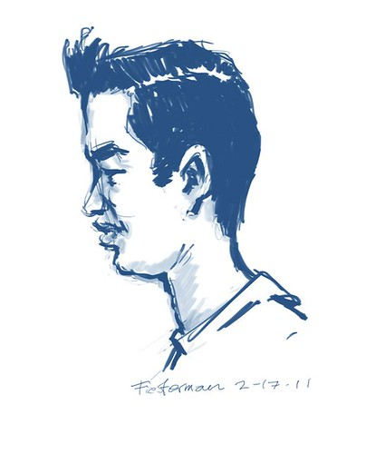 My second caricature by William Fiesterman - 2