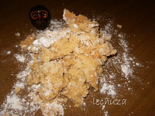 Galletas de cacahuete-masa