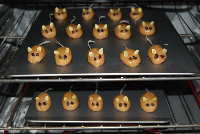 Mice Cookies in the Oven by freeduh2
