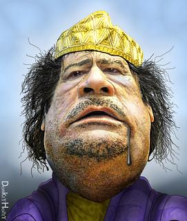 Muammar Gaddafi - Caricature