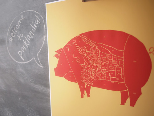 Portland poster pig, close up