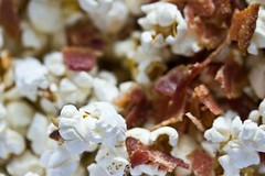 popcorn and bacon