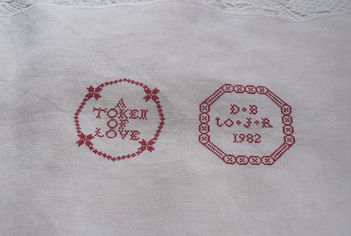Goode Huswife Quaker Marriage Sampler