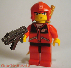 Neo-Tokyo Street punk-Red (Chaplinaustin) Tags: street punk lego katana custom neotokyo brickarms mmcb
